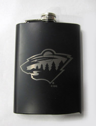 MINNESOTA WILD  NHL LASER ENGRAVED STAINLESS STEEL FLASK