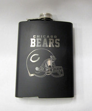 CHICAGO BEARS NFL LASER ENGRAVED STAINLESS STEEL FLASK