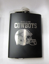 DALLAS COWBOYS NFL LASER ENGRAVED STAINLESS STEEL FLASK