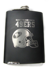 SAN FRANCISCO 49' ERS NFL LASER ENGRAVED STAINLESS STEEL FLASK