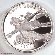 2002 CALGARY STAMPEDE STERLING SILVER 50 CENT PIECE. ROYAL CANADIAN MINT