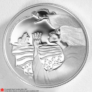 2001 50-CENT STERLING SILVER COIN - FOLKLORE - THE MAIDEN'S CAVE.