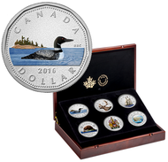 2016 5OZ. FINE SILVER 6-COIN SET - COLOURED BIG COIN SERIES - ONLY 350 SUBSCRIPTIONS WORLDWIDE!