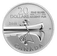 2011 $20 PURE SILVER COMMEMORATIVE COIN - CANOE (2ND IN SERIES)