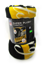 "PITTSBURGH STEELERS - NFL FOOTBALL - SUPER PLUSH THROW BLANKET - 46"" X 60"""