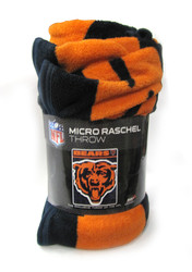 "CHICAGO BEARS  - NFL FOOTBALL - SUPER PLUSH THROW BLANKET - 46"" X 60"""