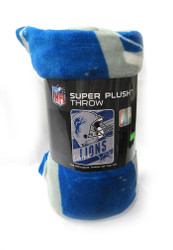 "DETROIT LIONS  - NFL FOOTBALL - SUPER PLUSH THROW BLANKET - 46"" X 60"""