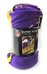 "MINNESOTA VIKINGS - NFL FOOTBALL - SUPER PLUSH THROW BLANKET - 46"" X 60"""