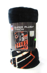 "CHICAGO BEARS VERSION 2 - NFL FOOTBALL - SUPER PLUSH THROW BLANKET - 46"" X 60"""