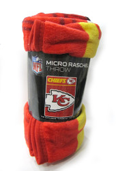 "KANSAS CITY CHIEFS - NFL FOOTBALL - SUPER PLUSH THROW BLANKET - 46"" X 60"""