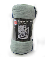 "DALLAS COWBOYS VERSION 2 - NFL FOOTBALL - SUPER PLUSH THROW BLANKET - 46"" X 60"""