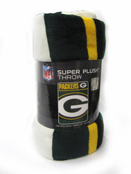 "GREEN BAY PACKERS - NFL FOOTBALL - SUPER PLUSH THROW BLANKET - 46"" X 60"""