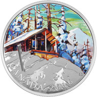 2016 $20 FINE SILVER COIN CANADIAN LANDSCAPE SERIES - SKI CHALET
