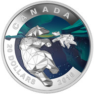 2016 $20 FINE SILVER COIN GEOMETRY IN ART: THE POLAR BEAR