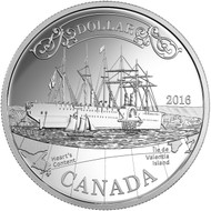 2016 PROOF SILVER DOLLAR  150TH ANNIVERSARY OF THE TRANSATLANTIC CABLE