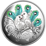2016 $10 FINE SILVER COIN CELEBRATION OF LOVE