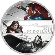 2016 $30 FINE SILVER COIN BATMAN V SUPERMAN: DAWN OF JUSTICE™