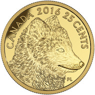 2016 25-CENT PURE GOLD COIN - PREDATOR VS. PREY: TRADITIONAL ARCTIC FOX