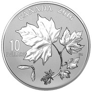 2016 $10 FINE SILVER COIN CANADIAN MAPLE LEAVES