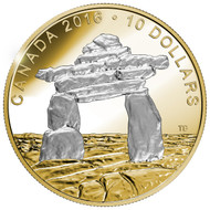 2016 $10 FINE SILVER COIN ICONIC CANADA - INUKSHUK  ►SOLD OUT FROM RCM◄
