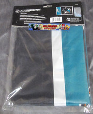 SAN JOSE SHARKS POLYESTER FLAG  - 3 X 5 FEET - INDOOR/OUTDOOR - BRAND NEW