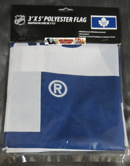 TORONTO MAPLE LEAFS POLYESTER FLAG  - 3 X 5 FEET - INDOOR/OUTDOOR - BRAND NEW