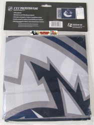 VANCOUVER CANUCKS POLYESTER FLAG  - 3 X 5 FEET - INDOOR/OUTDOOR - BRAND NEW