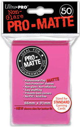 DECK PROTECTOR - STANDARD - 50 SLEEVES - PRO MATTE BRIGHT PINK