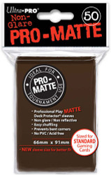 DECK PROTECTOR - STANDARD - 50 SLEEVES - PRO MATTE BROWN