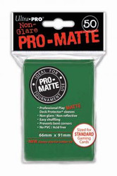 DECK PROTECTOR - STANDARD - 50 SLEEVES - PRO MATTE GREEN