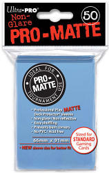 DECK PROTECTOR - STANDARD - 50 SLEEVES - PRO MATTE LIGHT BLUE