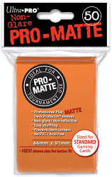 DECK PROTECTOR - STANDARD - 50 SLEEVES - PRO MATTE ORANGE