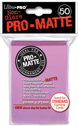 DECK PROTECTOR - STANDARD - 50 SLEEVES - PRO MATTE PINK