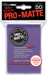 DECK PROTECTOR - STANDARD - 50 SLEEVES - PRO MATTE PURPLE