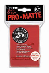DECK PROTECTOR - STANDARD - 50 SLEEVES - PRO MATTE RED