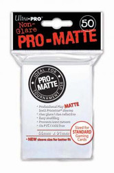 DECK PROTECTOR - STANDARD - 50 SLEEVES - PRO MATTE WHITE