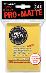 DECK PROTECTOR - STANDARD - 50 SLEEVES - PRO MATTE YELLOW