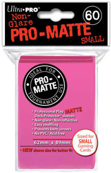DECK PROTECTOR - SMALL - 60 SLEEVES - PRO MATTE BRIGHT PINK