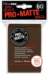 DECK PROTECTOR - SMALL - 60 SLEEVES - PRO MATTE BROWN