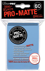 DECK PROTECTOR - SMALL - 60 SLEEVES - PRO MATTE LIGHT BLUE