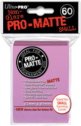 DECK PROTECTOR - SMALL - 60 SLEEVES - PRO MATTE PINK