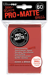 DECK PROTECTOR - SMALL - 60 SLEEVES - PRO MATTE RED