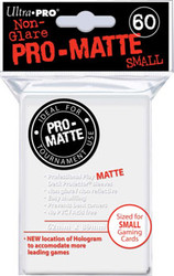 DECK PROTECTOR - SMALL - 60 SLEEVES - PRO MATTE WHITE