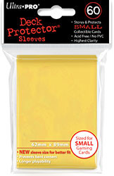 DECK PROTECTOR - SMALL - 60 SLEEVES - CANARY YELLOW