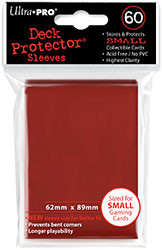 DECK PROTECTOR - SMALL - 60 SLEEVES - IMPERIAL RED