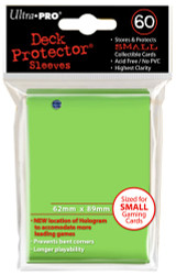 DECK PROTECTOR - SMALL - 60 SLEEVES - LIME GREEN