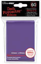 DECK PROTECTOR - SMALL - 60 SLEEVES - MAJESTIC PURPLE