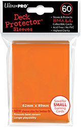DECK PROTECTOR - SMALL - 60 SLEEVES - ORANGE
