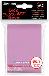 DECK PROTECTOR - SMALL - 60 SLEEVES - PINK