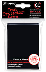 DECK PROTECTOR - SMALL - 60 SLEEVES - SORCERER BLACK